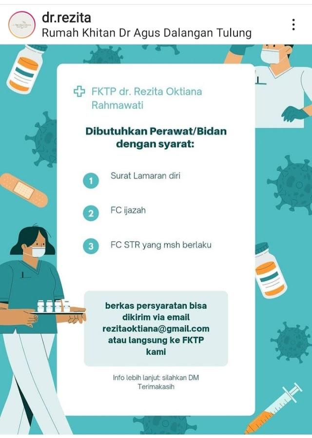 Loker Perawat dan Bidan di FKTP dr. Rezita Oktiana Rahmawati Klaten, Jawa Tengah