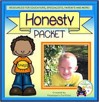 An honesty teaching packet with printables, worksheets, and posters