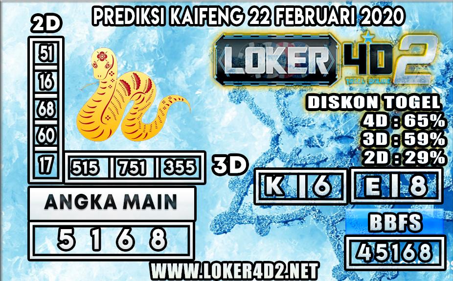 PREDIKSI TOGEL KAIFENG  LOKER4D2 22 FEBRUARI 2020