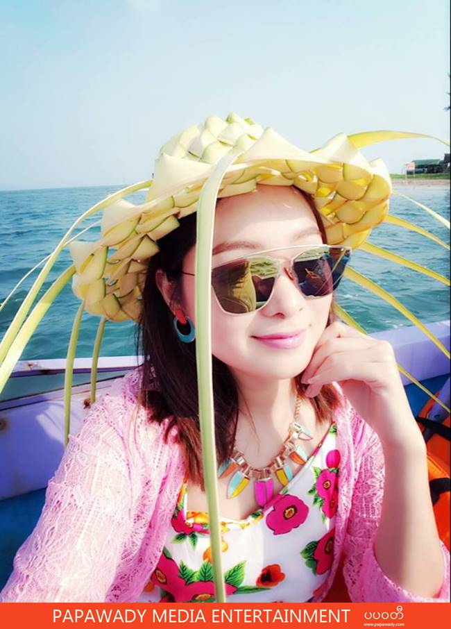 Moe Yu San Happy Vacation At Chaung Tha Beach Fashion Photos