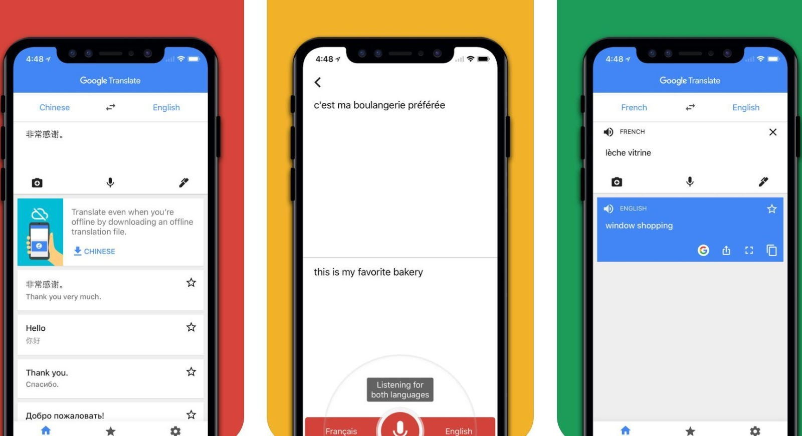 Google Translate With Camera, Text and Voice !
