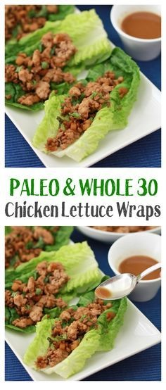 Chicken Lettuce Wraps (Gf, Df, Paleo, Whole30)