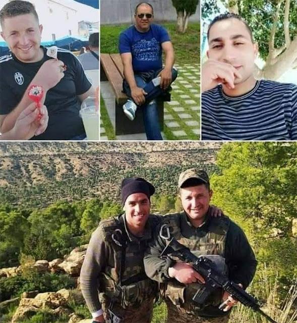 Tunisie : L'identité des 4 martyrs de l'armée nationale dévoilée