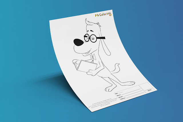 Free Printable Mr. Peabody & Sherman Coloriage Outline Blank Coloring Page pdf For Kids Kindergarten Preschool toddler coloring sheets 6