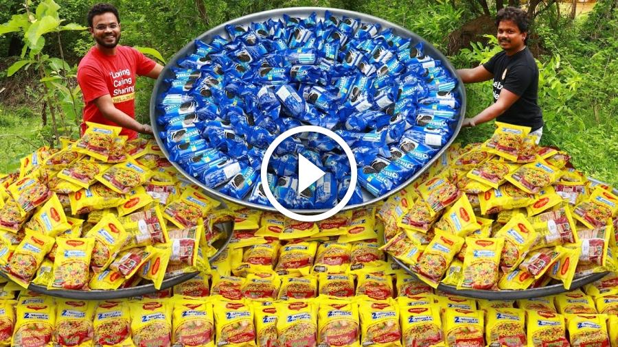 200 Maggi Masala Noodles | 200 Oreo Biscuits | Cheese Maggi Masala | Grandpa Kitchen