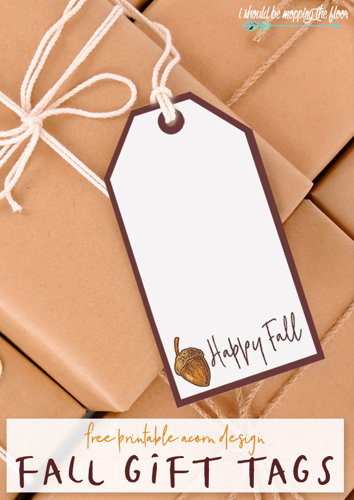 Acorn Gift Tag Printables