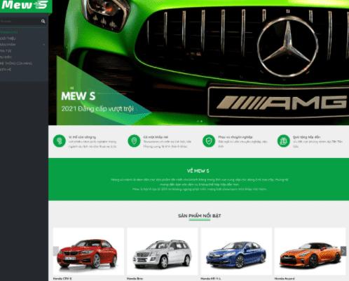 Giao diện Blogspot kinh doanh ô tô
