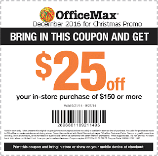 free Office Max coupons for december 2016