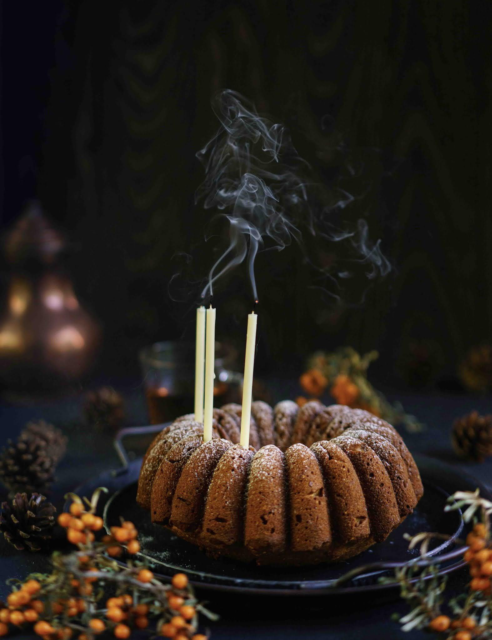 cake d'automne , noisettes, poudre aux noisettes