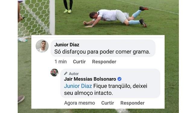 Bolsonaro dá 'resposta tramontina' para esquerdista idiota