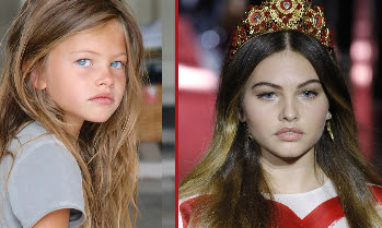 Model dubbed 'most beautiful girl in the world' aged 6 takes to catwalk at MFW
