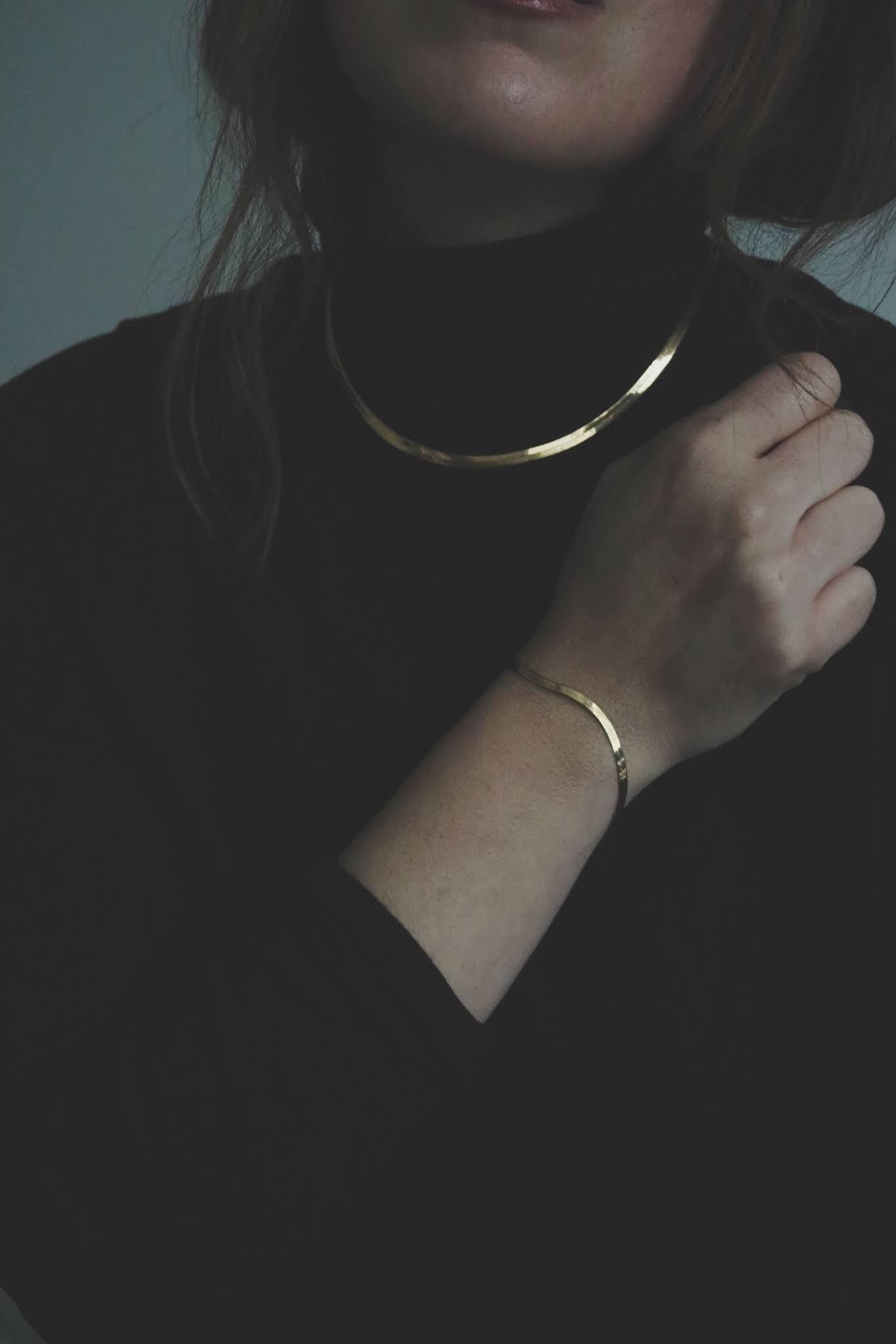 mejuri herringbone necklace