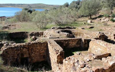 Ruinas romanas en el embalse de Orellana