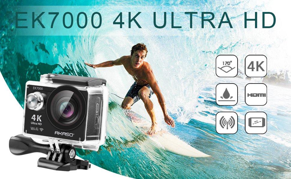 AKASO EK7000 4K Action Camera WIFI Ultra HD Waterproof