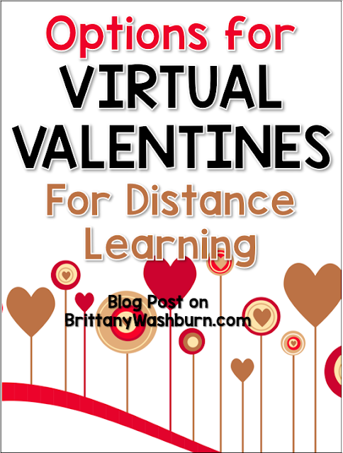 In this time of social distancing and virtual learning, Valentine's Day is a way of still making a connection in our classroom communities. There are several options for Virtual Valentines and ways to distribute them.