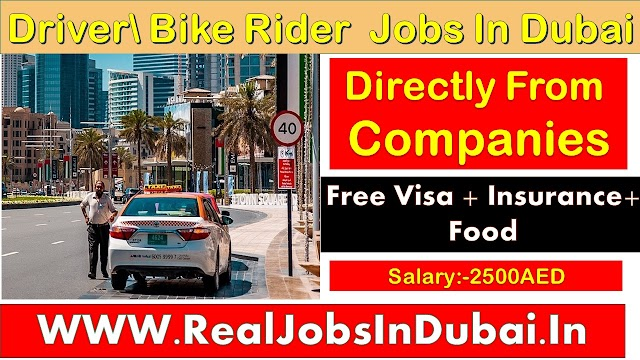 Bike Rider Jobs In Dubai