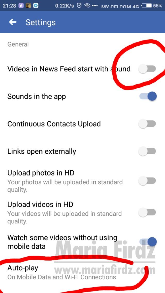 Cara Hentikan Video Autoplay di Facebook
