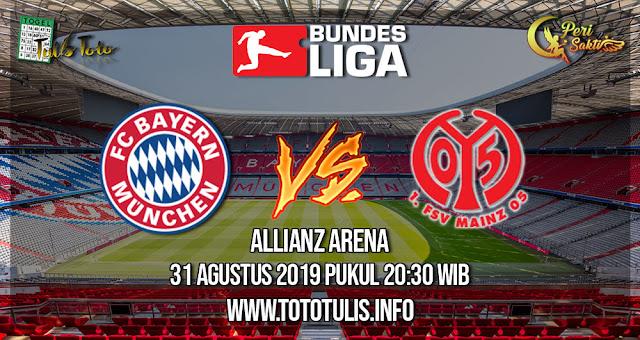 Prediksi Bayern München vs Mainz 05 31 Agustus 2019
