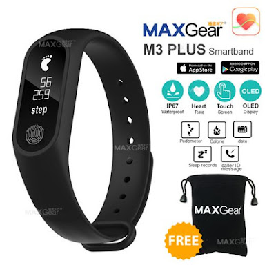 Review on MAXGear M3 PLUS Heart Rate Smartband
