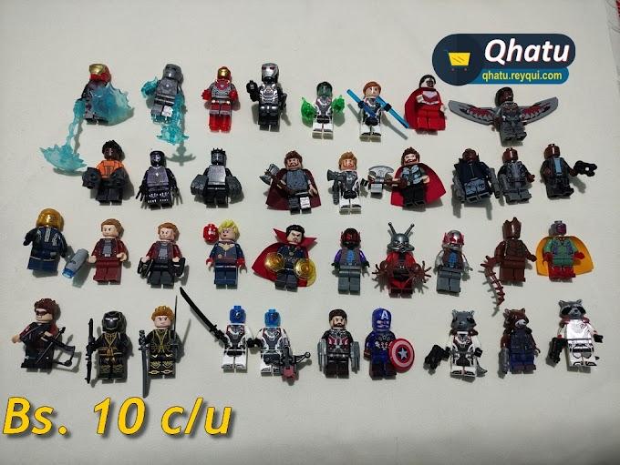 Réplica Legos: Minifiguras de Marvel y DC