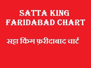 Satta King faridabad Chart 2019
