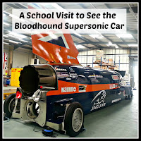 Rear view of Bloodhound Supersonic Car with title overlaid