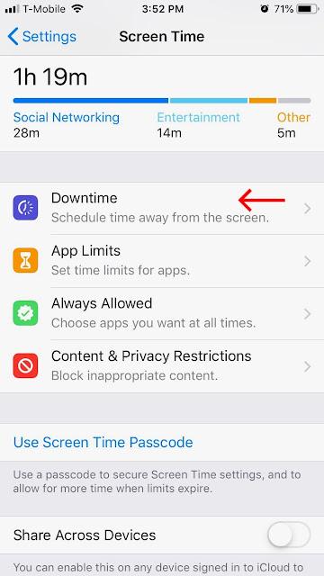 طريقة تحديد وقت الاستخدام وقفل التطبيقات في الايفون برقم سري او ببصمة الاصبع