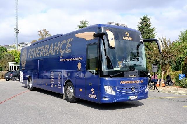 Fenerbahçe'nin Mercedes-Benz Takım Otobüsü yeni tasarımıyla 2020/2021 sezonuna hazır