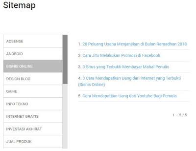 Cara Membuat Sitemap (Daftar Isi) Per Label Otomatis