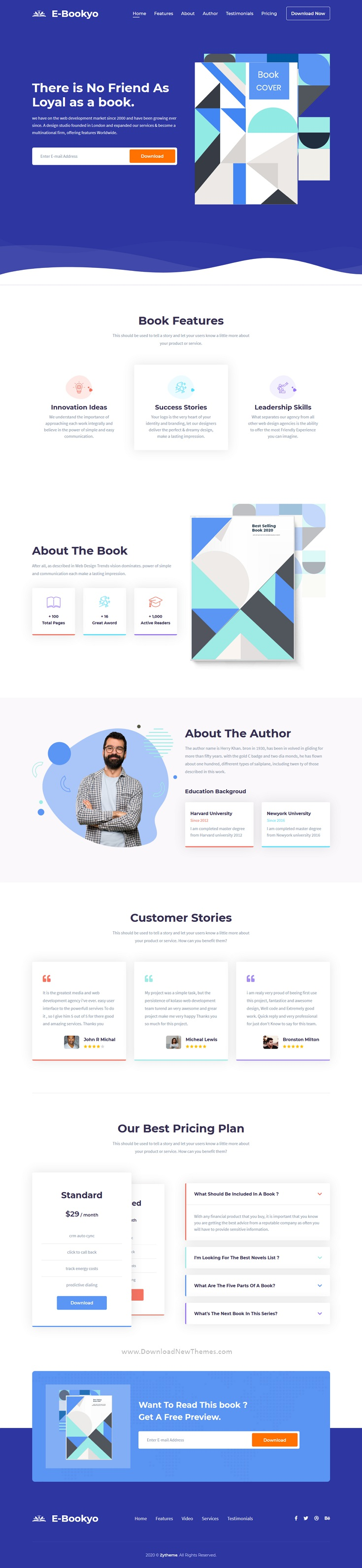 Ebook HTML Landing Page Template