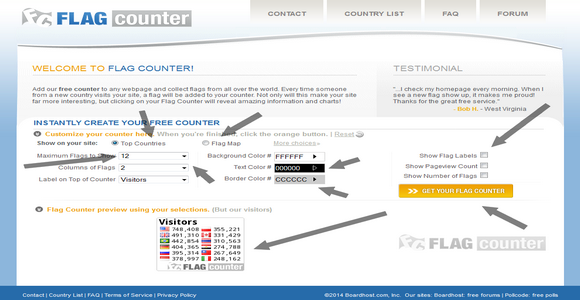 Flag counter widget