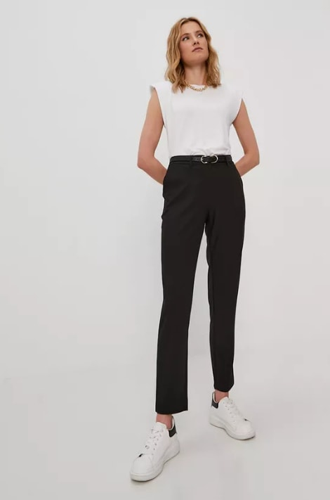 Pieces - Pantaloni negri smart-office