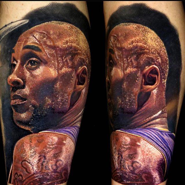 Tatuaje de Kobe Bryant por Nikko Hurtado
