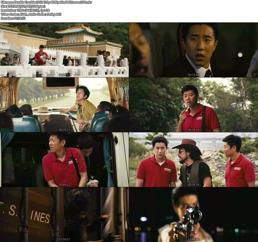 Double Trouble 2012 720p BDRip Hindi Chinese x264 | 480p 300MB | 100MB HEVC Screenshot