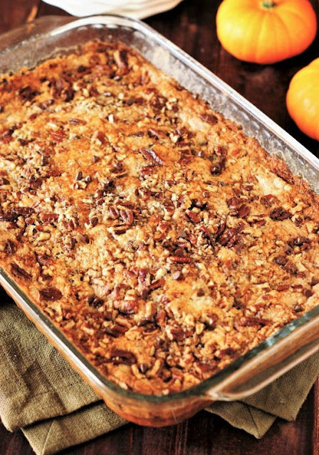 Pumpkin Dump Cake with Chocolate Chips and Pecans Image