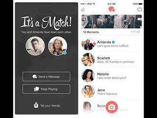 Tinder on smartphones