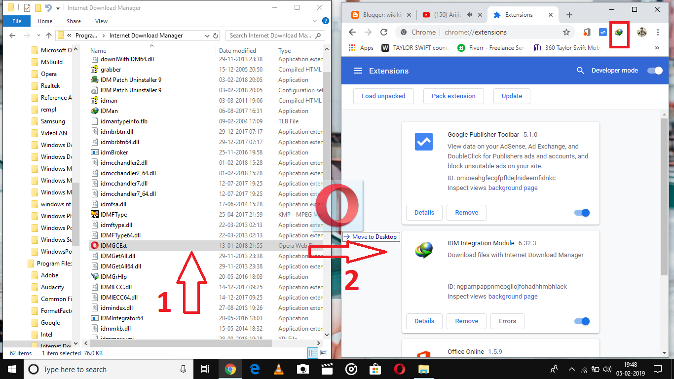 idm chrome extension not working 2019
