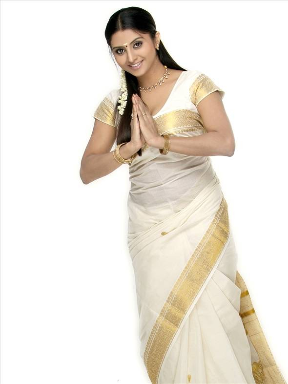 Beautiful Malayali Girl In Mundu Set Saree I Love You My