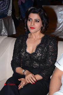 Actress Samantha Pictures in Black Dress at A Aa Success Meet  0003.JPG