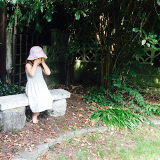 A sensory child in the garden