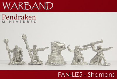 FAN-LIZ5 - 4 x Shamans with runestone
