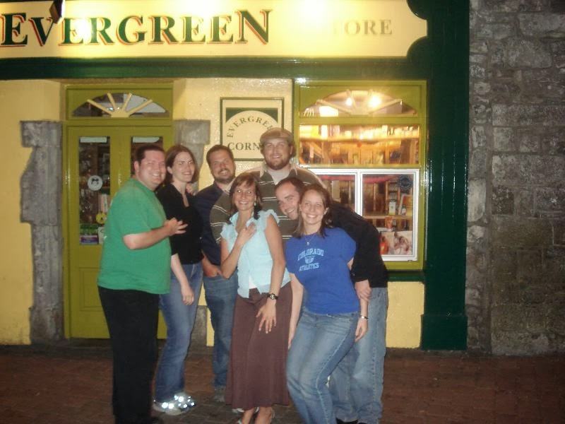 Eric, Kate, Jeremy, Meghan, Jay, James, and Lizzie in Galway, 2006