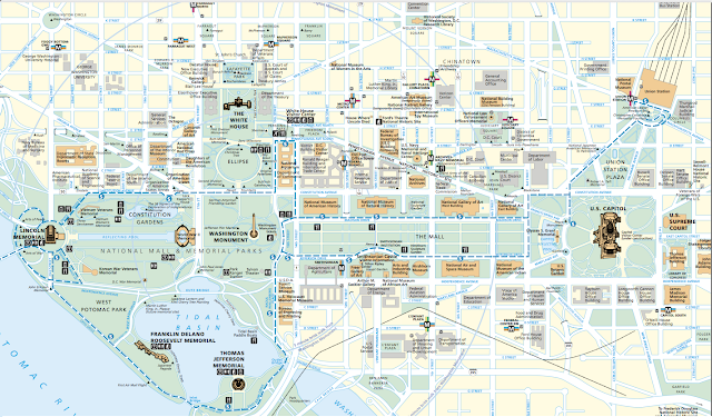 Mapa turístico de Washington