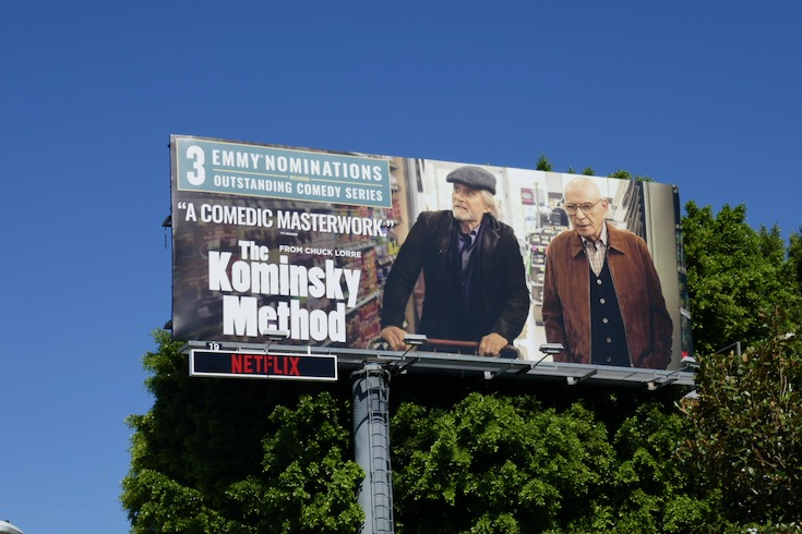 Kominsky Method 2020 Emmy nominee billboard