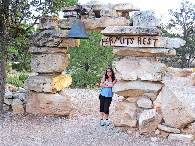 Hermits Rest offers restrooms and a snack bar for the weary hikers at the Grand Canyon