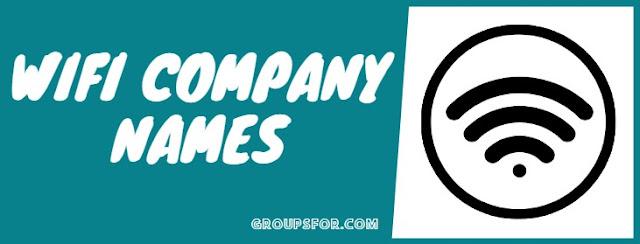 company wifi names