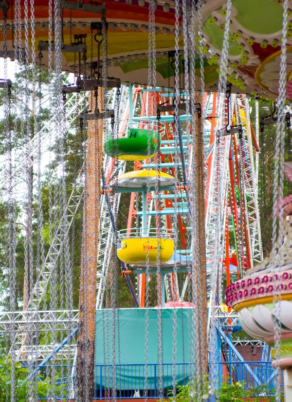 PauMau blogi nelkytplusbloggari nelkytplus Tykkimäki huvipuisto Kouvola korkea laite keinu maailmanpyörä karusellikeinu kouvolapyörä