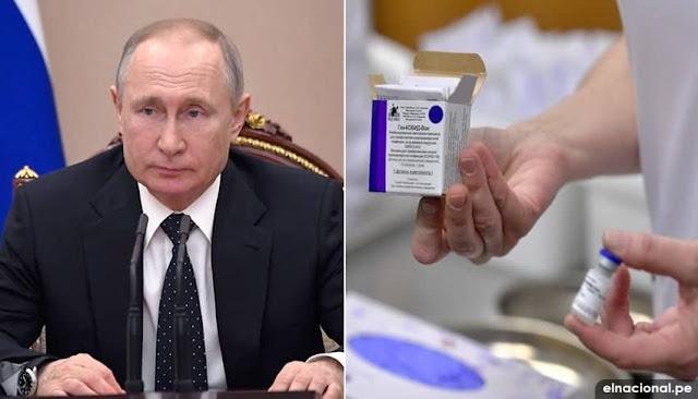 Vacunas rusas son seguras y eficaces, dice Putin