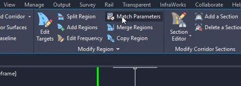 Match parameters in Civil 3D