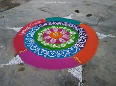 Huge Circle Rangolis